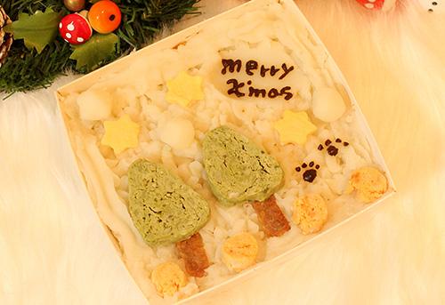 犬用手作りクリスマスケーキ